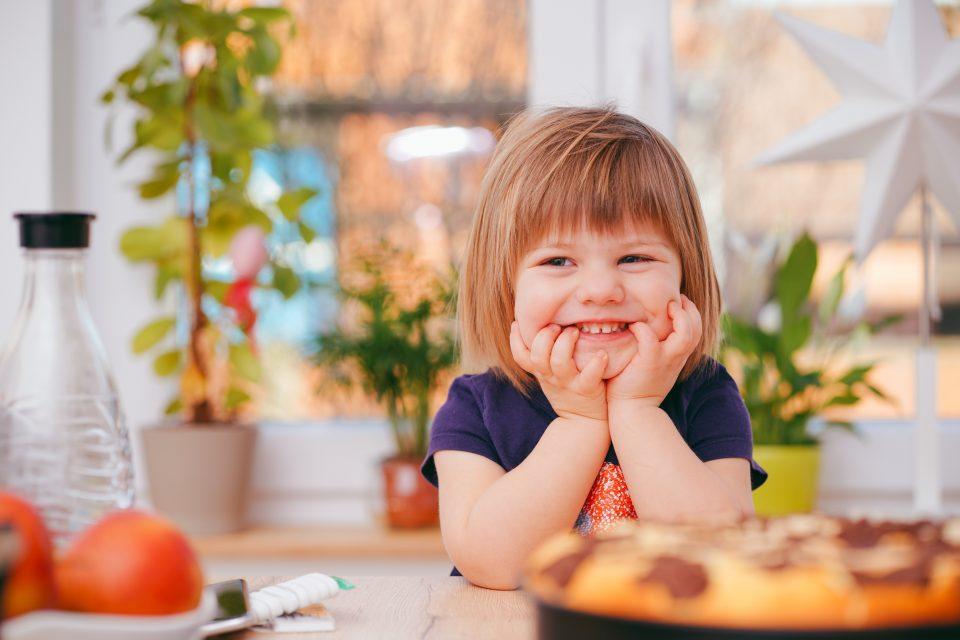sweet little girl smiling