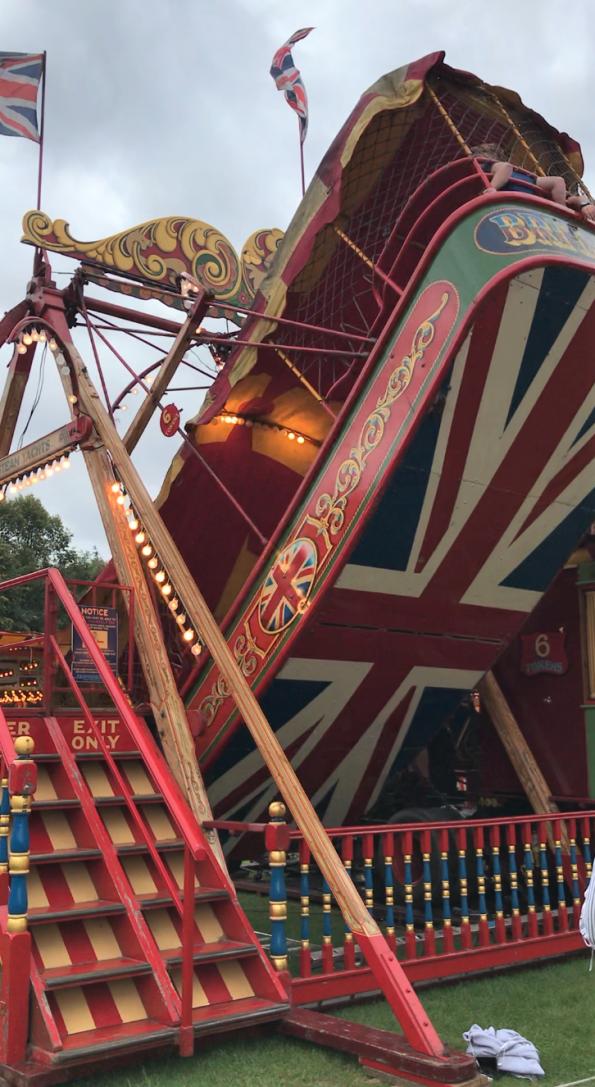 thrill ride at carters steam fair