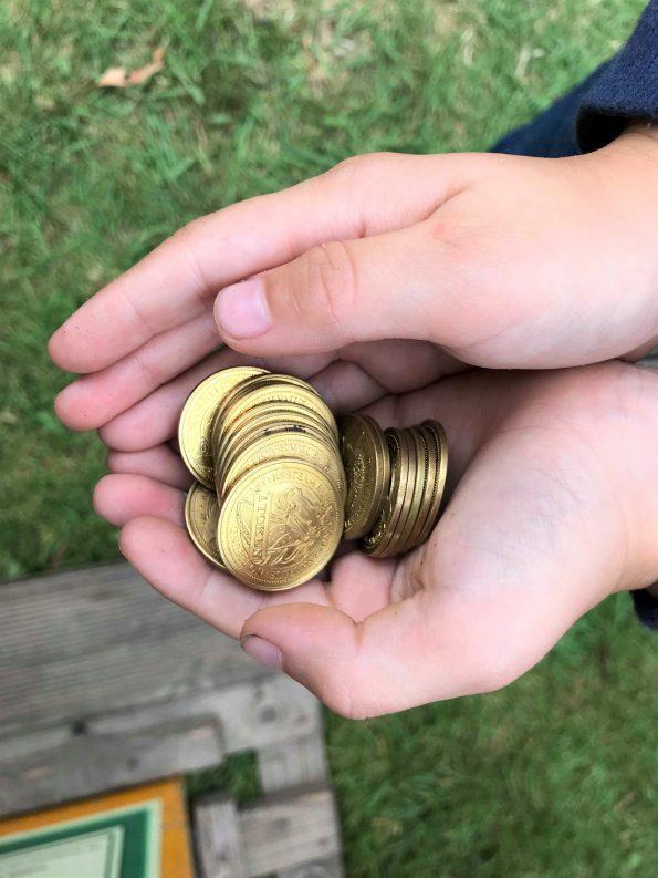 handful of tokens