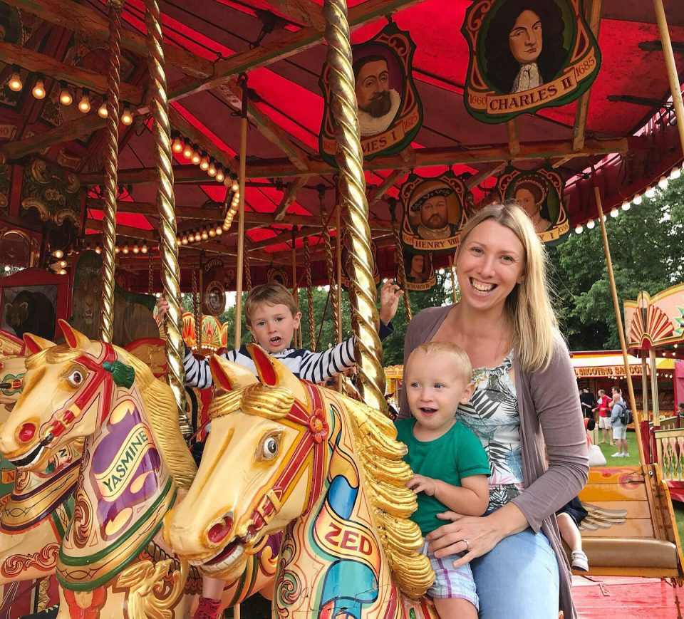 me and the boys on the gallopers