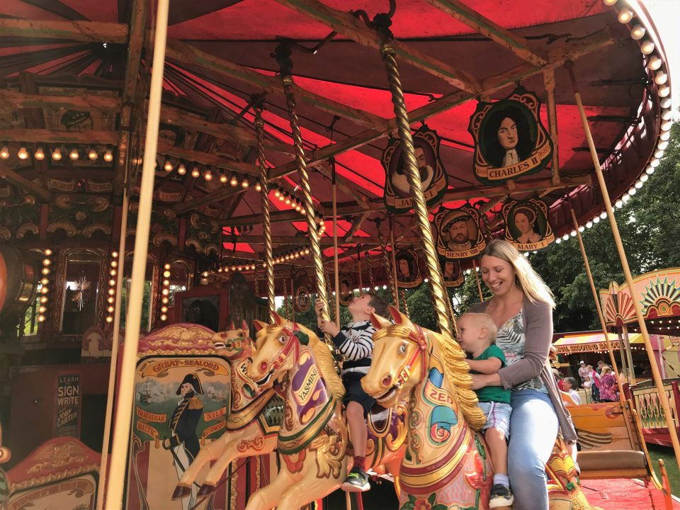 us on the gallopers