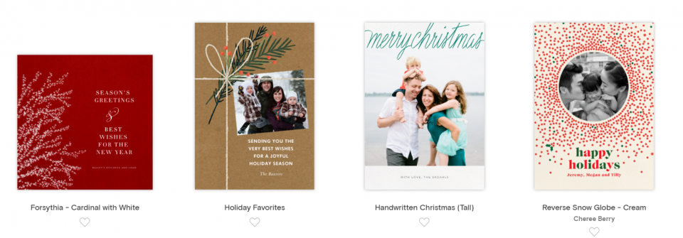 4 paperless post christmas cards