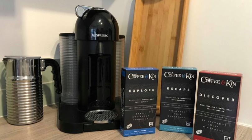 eco-friendly coffee pods from coffee & Kin