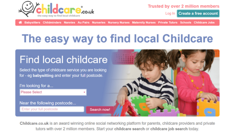finding childcare with childcare.co.uk website