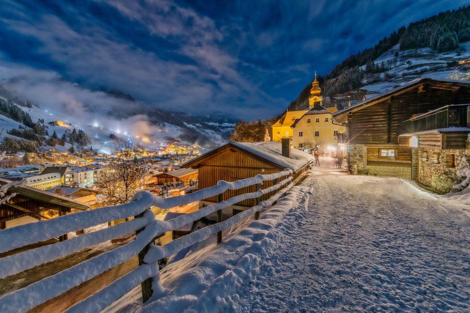 Salzburg in Austria in the winter