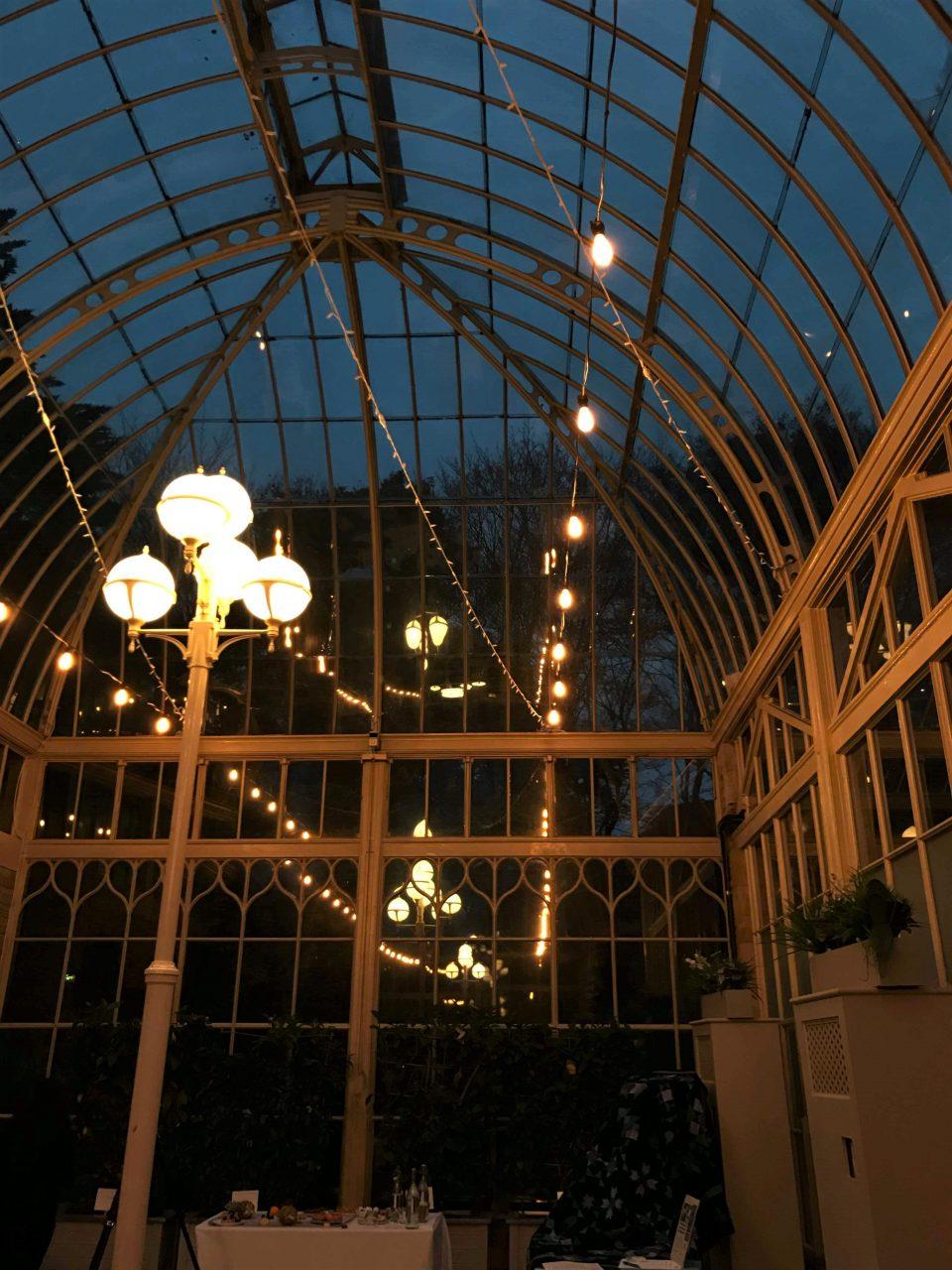 the orangery at night