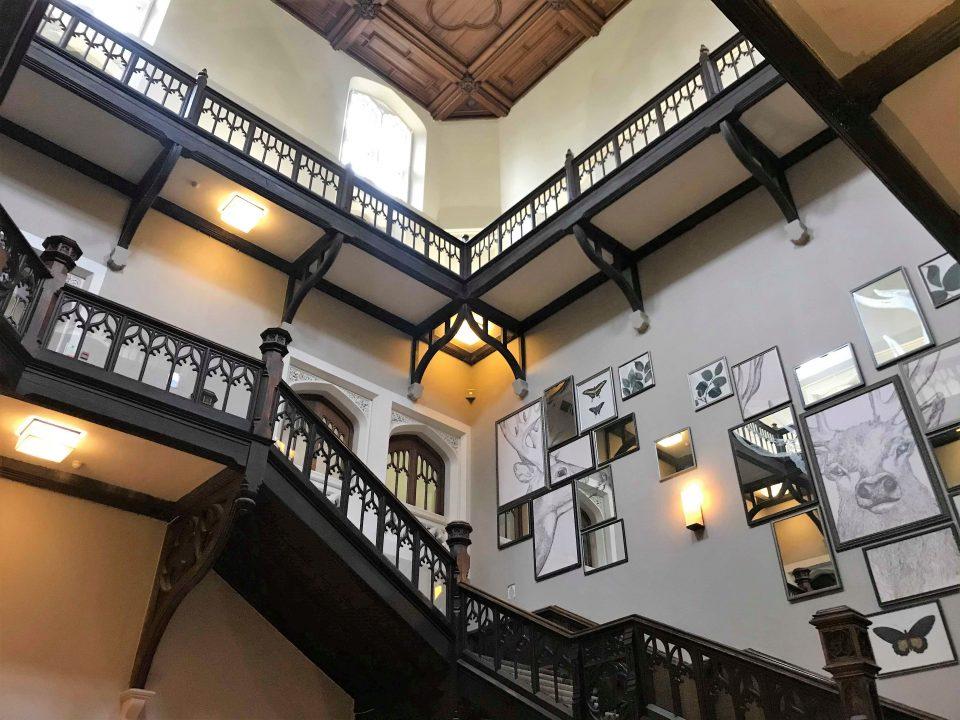 the stairway in the de vere hotel