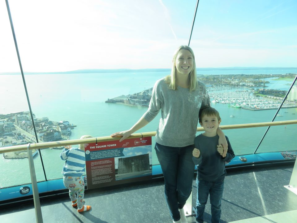 me and Jake up the Spinnaker Tower