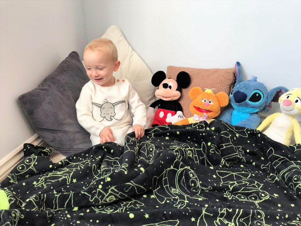 the blanket now out and over william and the toys