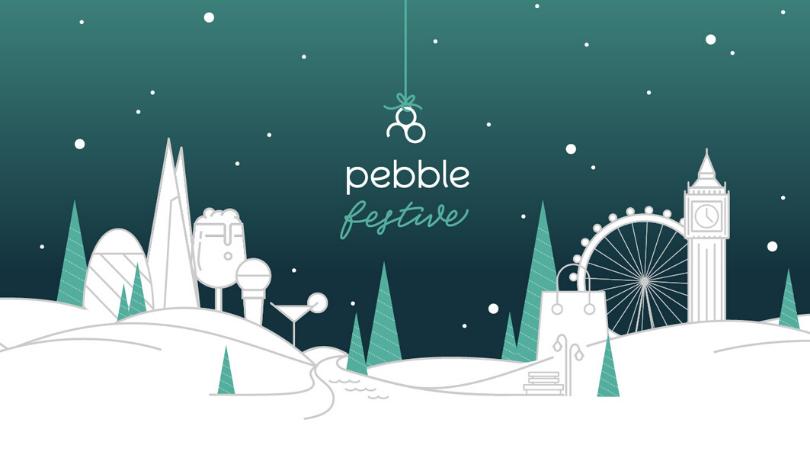 pebble festive logo