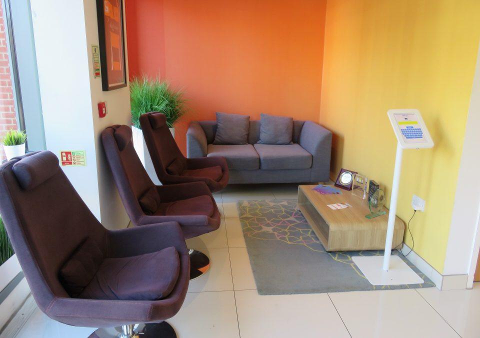 waiting area of the massage company