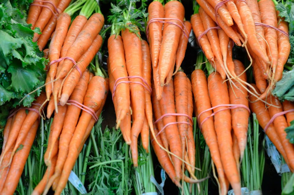 carrots bunched up