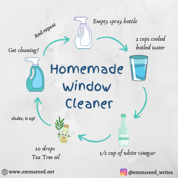 homemade window cleaner graphic