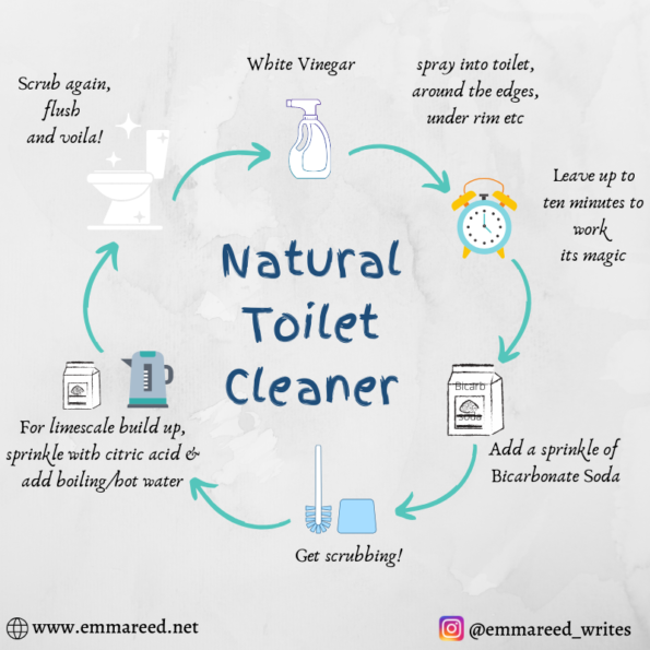 natural toilet cleaner graphic