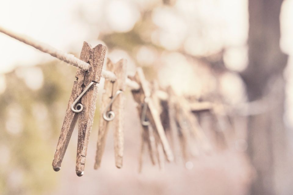pegs on a line