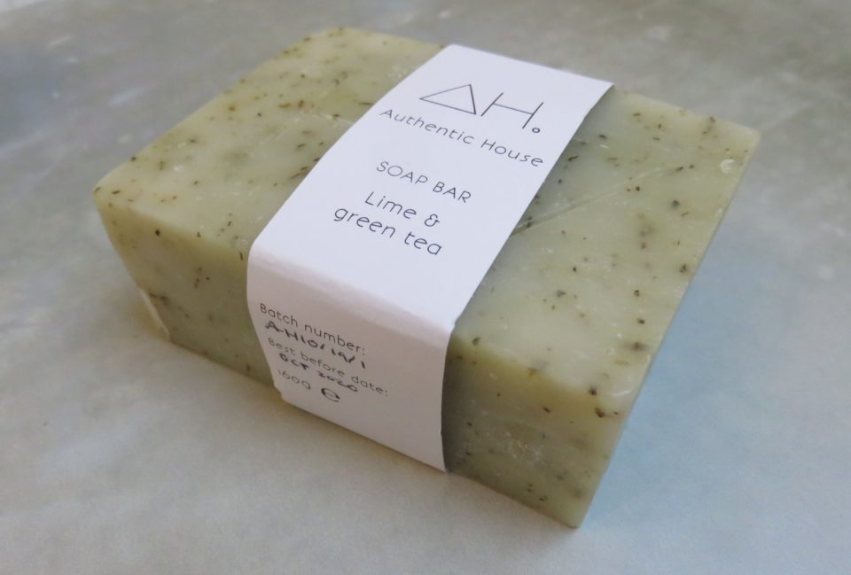the lime and green tea soap bar