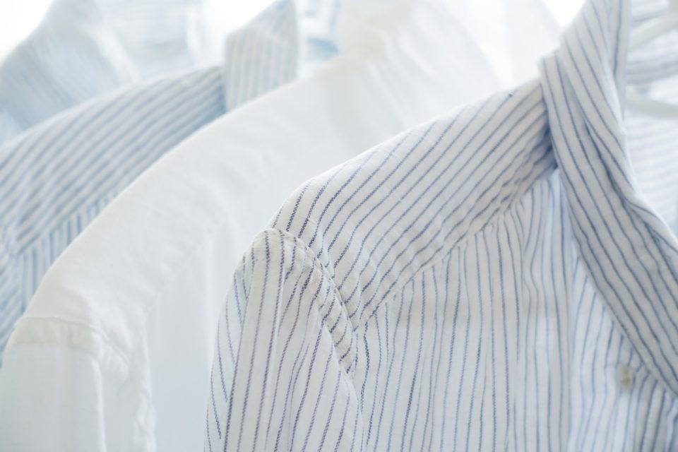 shirts hanging up