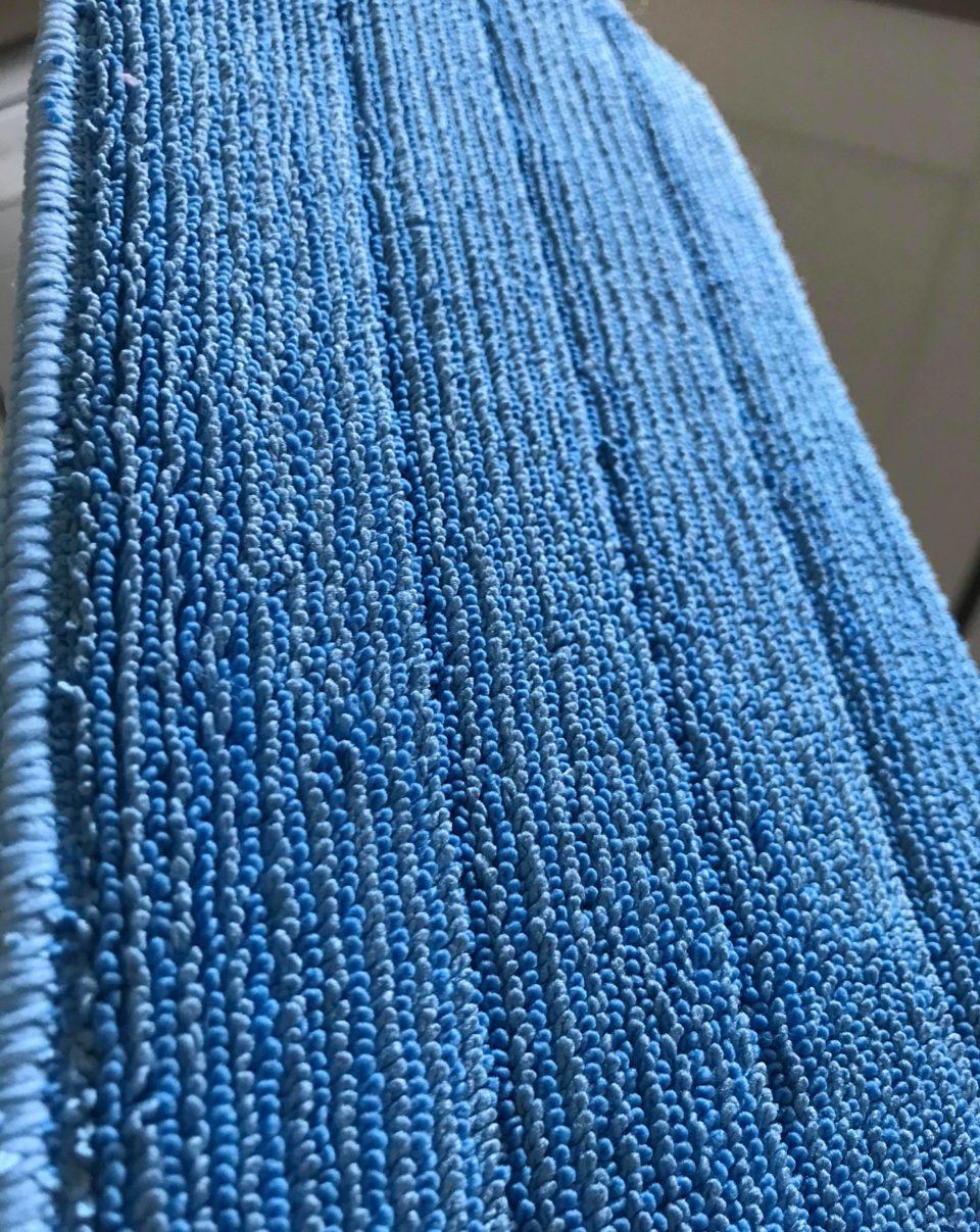 the micro-fibres on the e-cloth mop