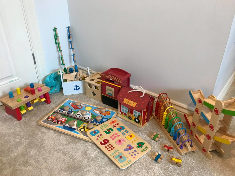 wooden toy play station