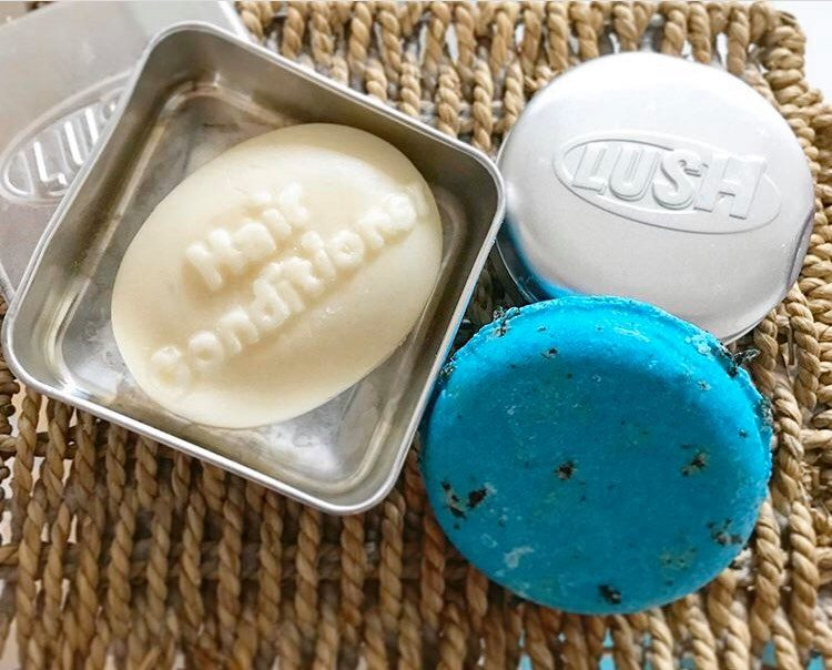 shampoo and conditioner bars from Lush