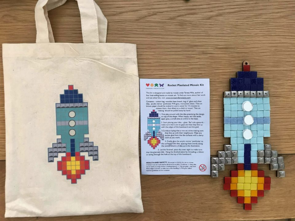 the mosaic space rocket completed