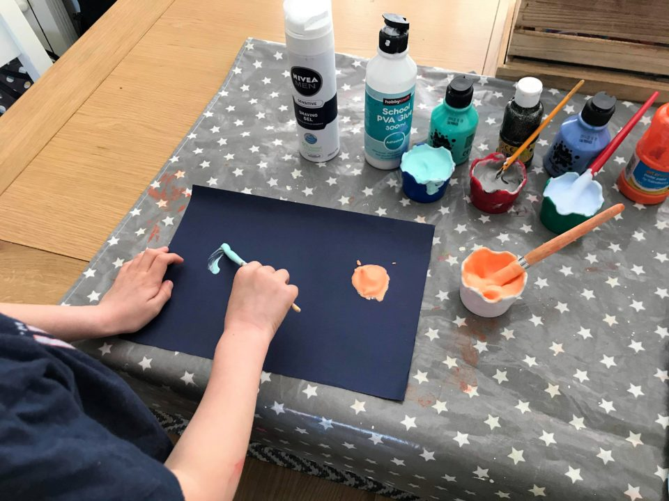 painting the foam planets