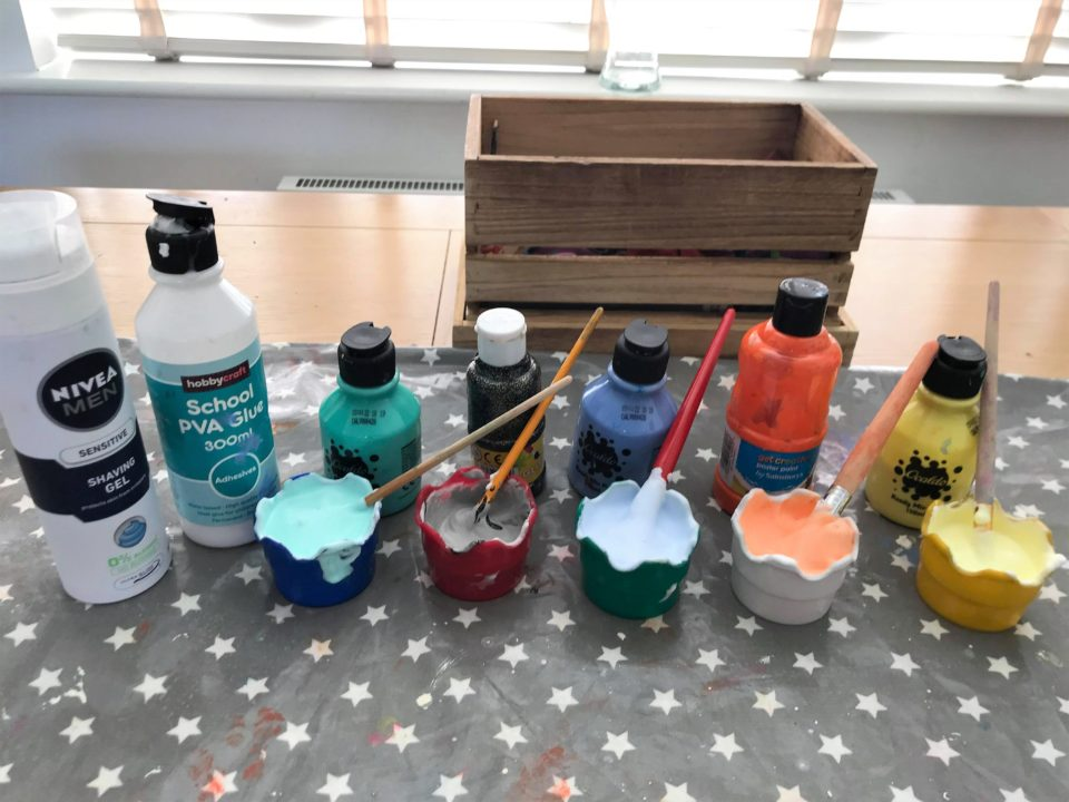 the ingredients needed to make foam rockets