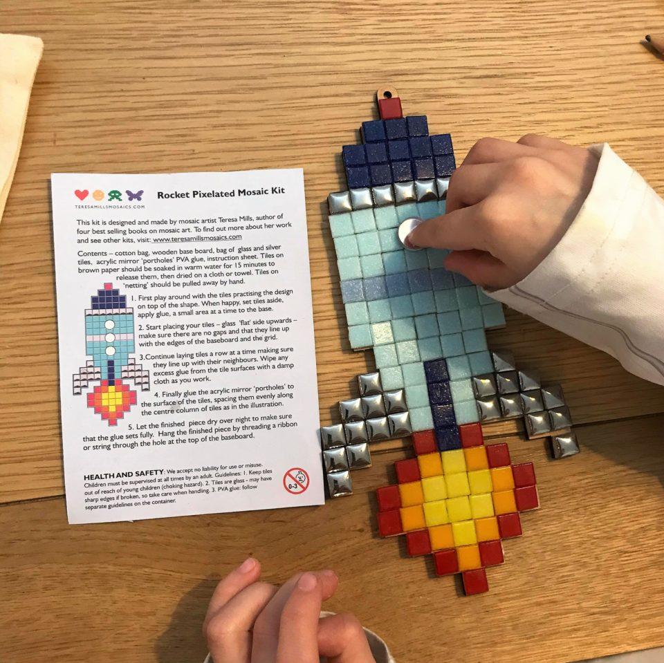 making the mosaic rocket