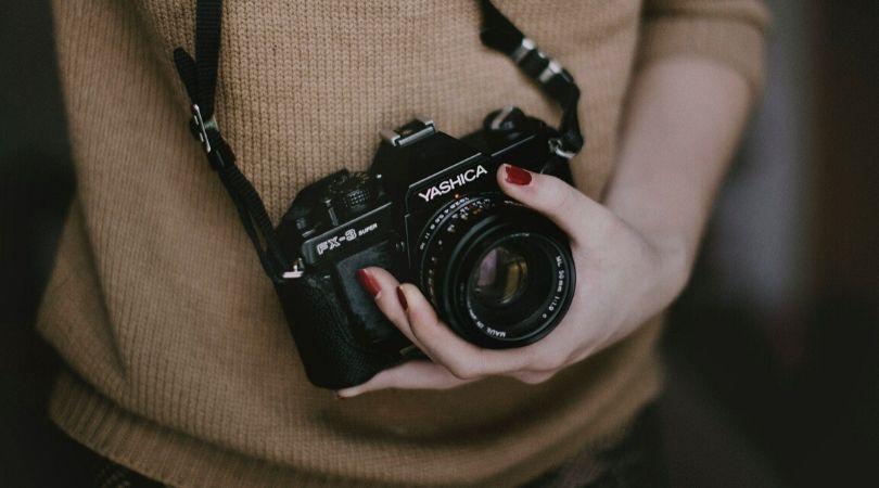 camera being held