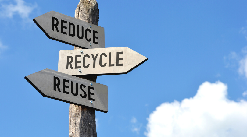 reduce reuse recycle sign