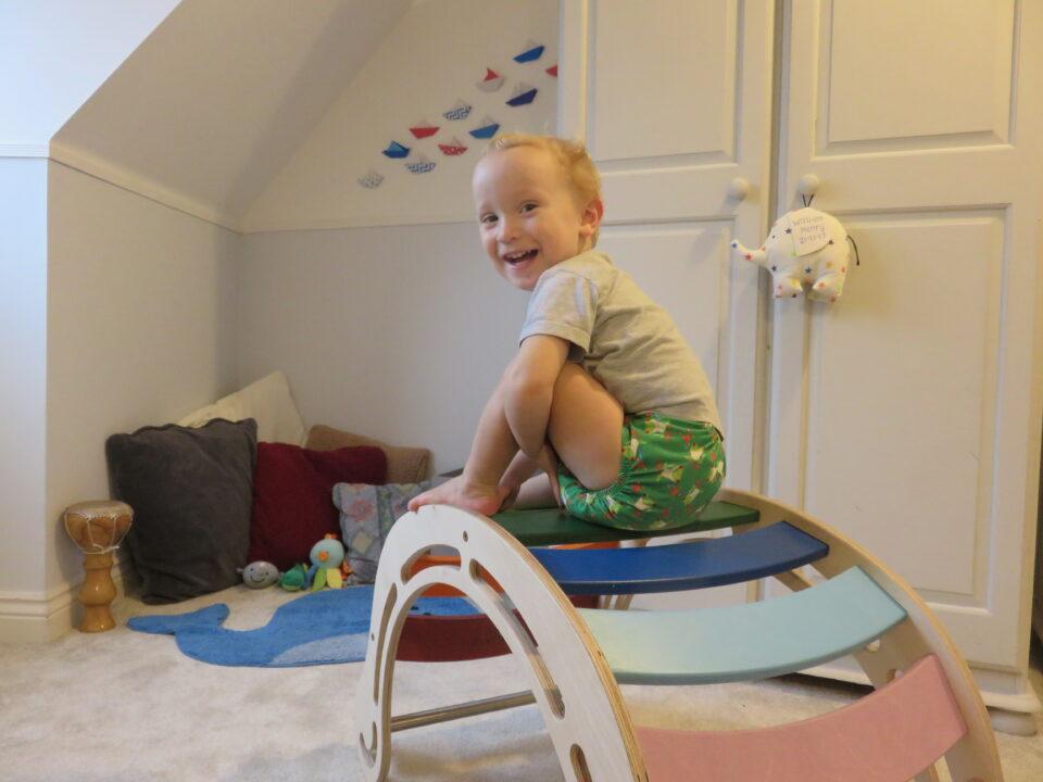 William sat on top of his rocker
