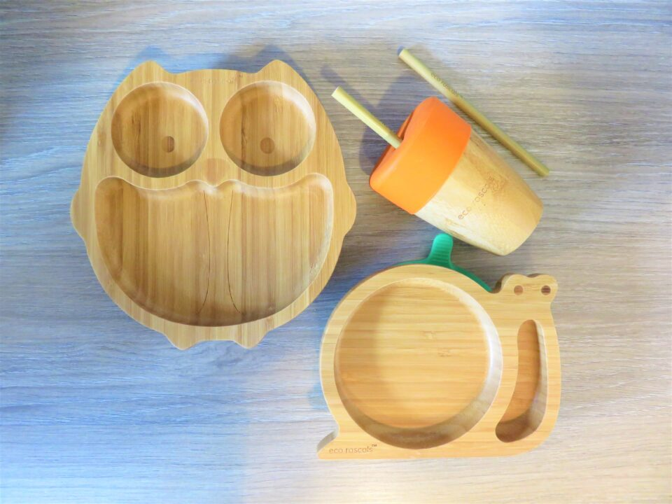 the snail, owl and bamboo cup and straws