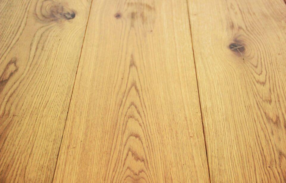real solid oak floor