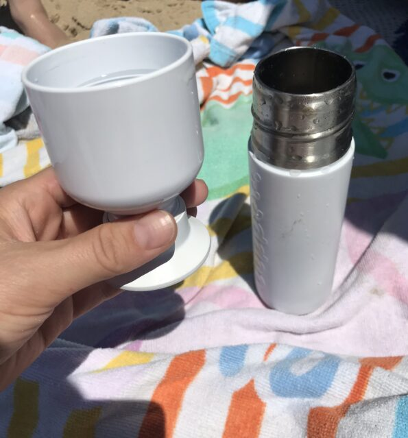 Dopper reusable water bottle with cup lid