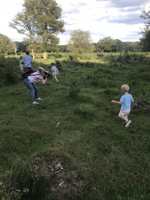 action shot of Ewa Jones Photography getting William running