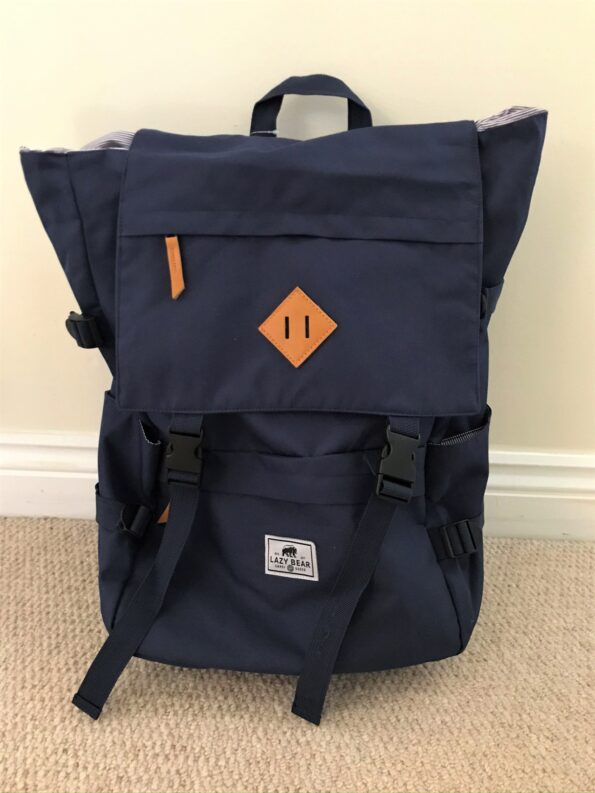 the lazy bear lance navy backpack