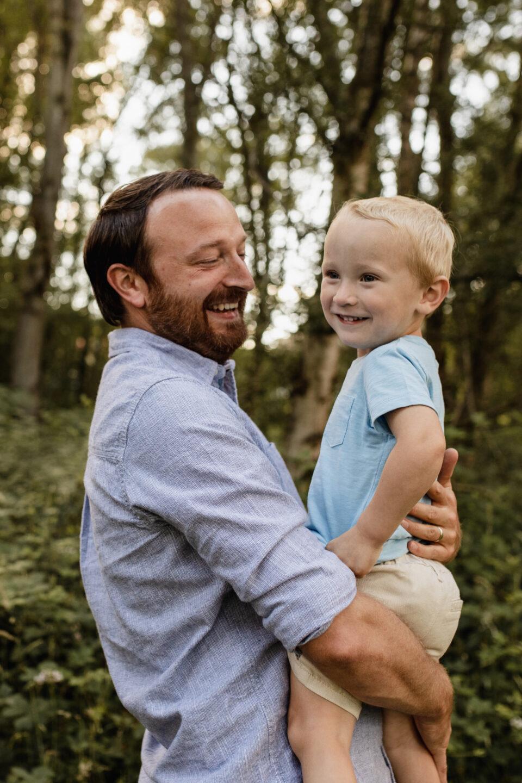 Rob holding William