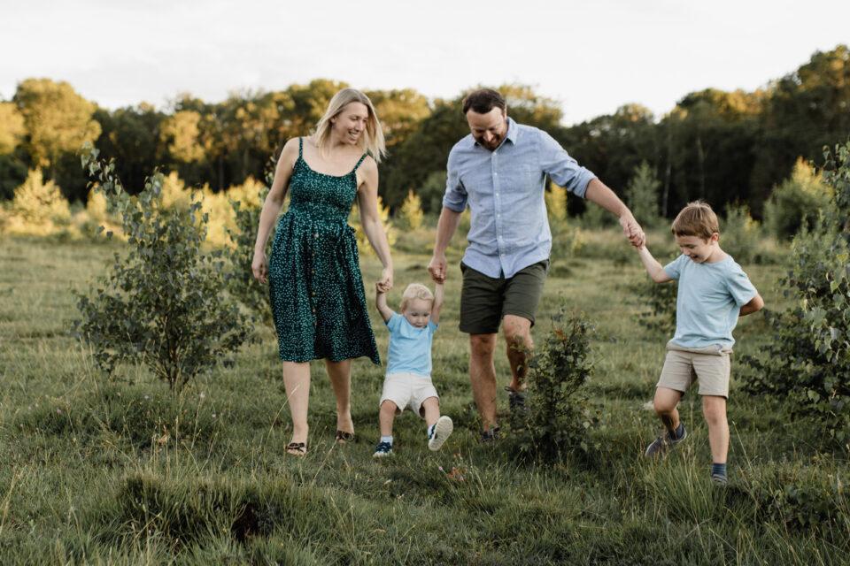 family shot of us walking