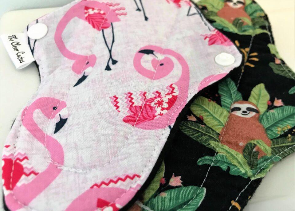 flamingoes and sloth prints