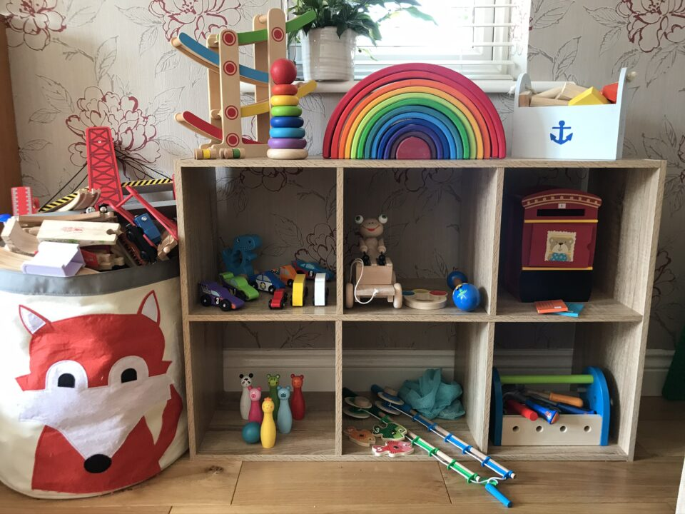 wooden toy rotation set up