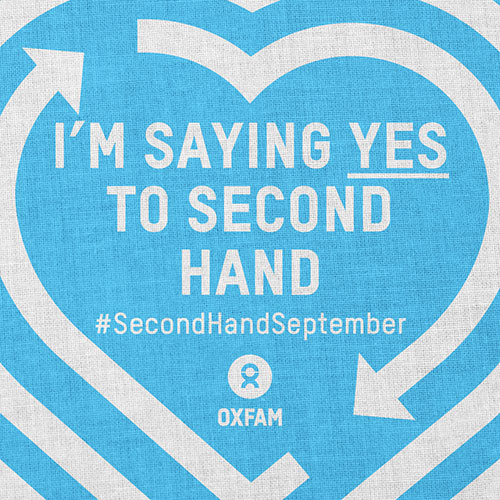 I'm saying yes to secondhand logo from Oxfam