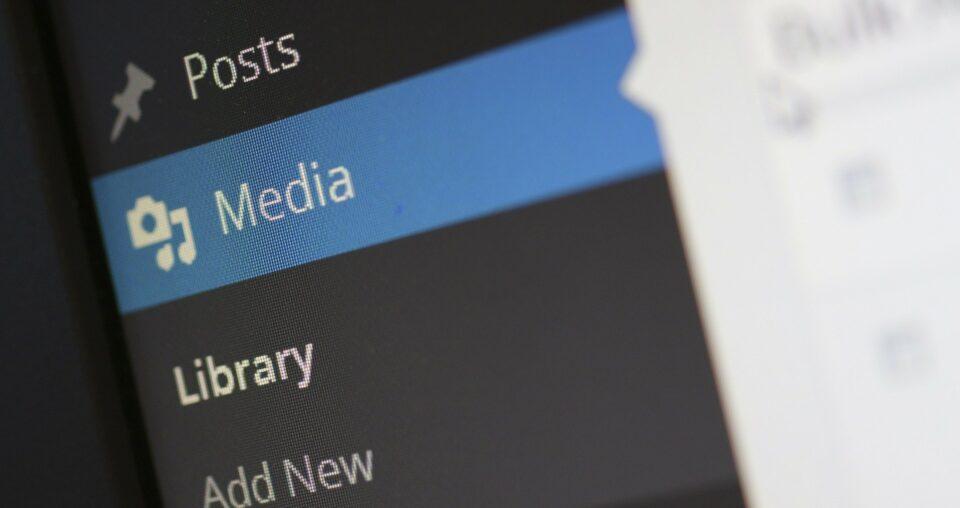 media button on a wordpress site