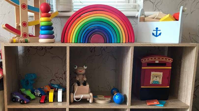 toy rotation example using wooden toys