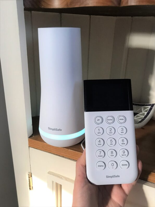 the keypad and the base station
