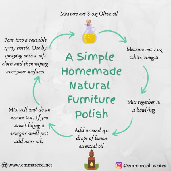 a simple homemade natural furniture polish recipe