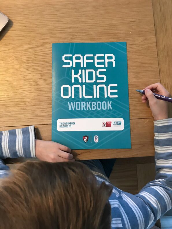 Looking down on the Safer Kids Online Workbook