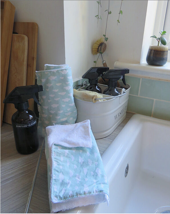 reusable kitchen roll next to a sink