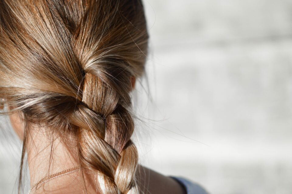 ladies hair in a plait