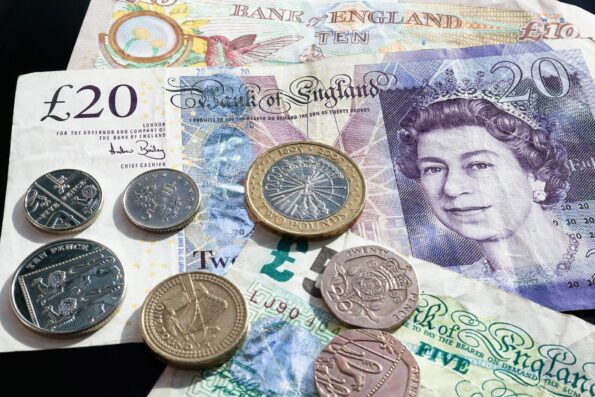 £ notes and coins