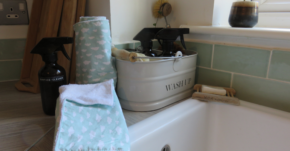 reusable kitchen roll on a sink